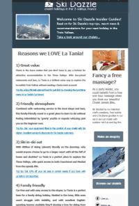 Ski Dazzle newsletter