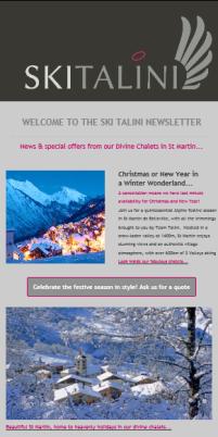 Ski Talini newsletter