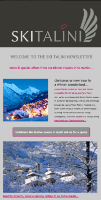 Newsletter for Ski Talini